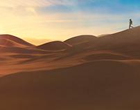 Lost Soldier. Desert Dunes