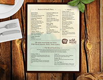 Wild Wood Pizzeria menu and pitch deck