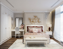 Luxury master bedroom. Vinhome Tancang