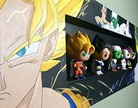 [Acrylic Painting] Dragon Ball Z Shadow Box Canvas