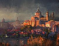XVIII century city concept