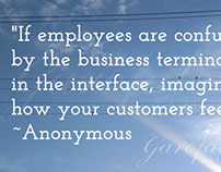 "Quote: ""If employees are confused by the business..."