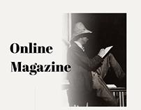 Online magazine website design