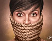 """""""Privilege"""" Digital Oil Painting by Wayne Flint"""