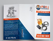 Brochure design  for 1 Fox 2 Productions Inc.