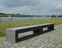 Betonbank / Concrete Bench LIGE, Rheinboulebard Cologne