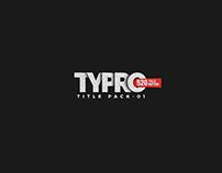 TYPRO _ Titles & Typography