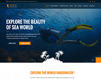 Web Design Concept for Royal Diving Dubai
