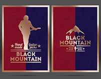 Black Mountain Guitar Picks - Logo & Print Design