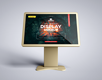 Free Touch Screen Display Mockup