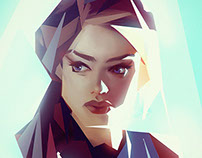 'Low Poly' Portrait Series