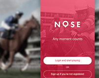 dailyui001 - NOSE - login for horse racing app