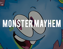 Monster Mayhem Play Area brand and identity