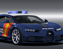Bugatti Chiron Policia National