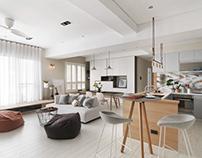 Apartment by HOZO interior design
