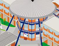 Mapa Isométrico UNIVALI Campus Balneário Camboriú