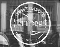 Logo for a barber