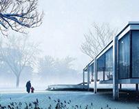 Farnsworth House by Mies v.d. Rohe