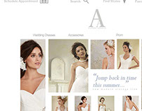 Alfred Angelo Website Design