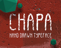 CHAPA. Hand drawn typeface