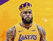 """LA""Bron James Los Angeles Lakers Jersey Swap"