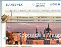 Planetex: website and stile of company.