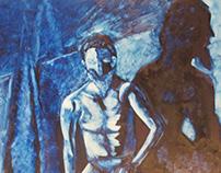 Naked Blue Man- Life Drawing