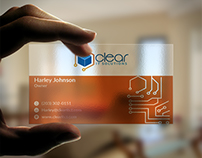 Transparent Business Card for Clear IT