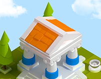 Mobile Strategy Game Buildings