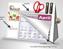 al tadamun calendar  idea (calendar-Moneybox-Notes)