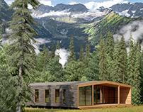 Wooden house in the Alps