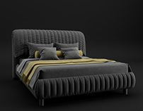 Concept Design of bed. CGI