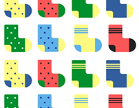 Crazy socks line