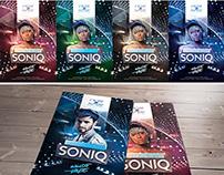 Electro House Soniq Flyer Template