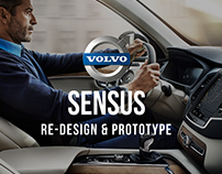 Volvo Sensus redesign interface & prototype