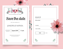Queen Flowers. Wedding template