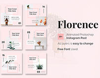 FLORENCE - FREE INSTAGRAM POST TEMPLATES