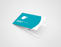 Folded Business Card Mock Up