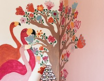 Lisa Bedroom Wall Mural