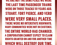 Citizens Against the Train Infographic