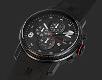 MOMENTUS CarbonTech Watch (3D Product Design)