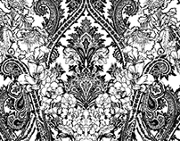 AW16 - Lime - Paisley pattern