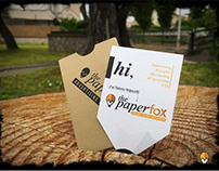 The Paperfox: Advertising designer Business card