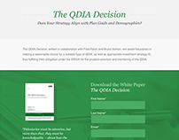 The QDIA Decision - Microsite