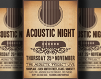 Acoustic Night Party Flyer Template