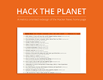Hack the Planet - A focused redesign of Hacker News.