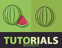 Tutorials - Free Download - Watermelon Drawing