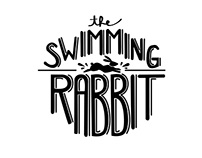 swimming rabbit logo