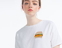 Embroidery Hamburger Patch