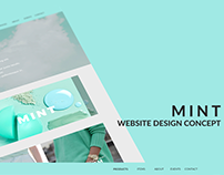 MINT - Website Design Concept